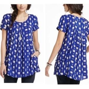ANTHROPOLOGIE HOLDING HORSES abstraction tunic Sm
